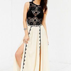 Amuse Society Sia-Crochet Top Maxi Dress